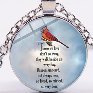 Necklace- NEW- Cardinal Loss of a Loved One